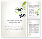 Education & Training: Say Yes Word Template #12758