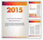 Holiday/Special Occasion: 2015 in Modern Flat Style Word Template #12784