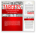 Business Concepts: Objectives and Targets Word Cloud Word Template #12792