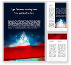 Holiday/Special Occasion: Snowflakes Christmas Tree Word Template #12796