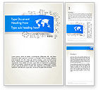 Business Concepts: World Map and Charts Word Template #12806