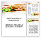 Food & Beverage: Modello Word - Cheese burger con insalata #12811