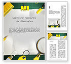 Education & Training: Stationery Supplies Word Template #12815