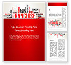 Business Concepts: Franchise Word Cloud Word Template #12820