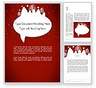 Holiday/Special Occasion: Speech Bubble with New Year Theme Word Template #12822