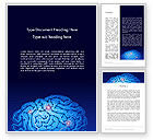 Medical: Brain Map Word Template #12823
