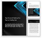 Abstract/Textures: Dark Blue Corner Word Template #12825