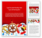 Education & Training: Nautical Word Template #12828