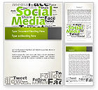 Careers/Industry: Social Media Wordcloud Concept Word Template #12837