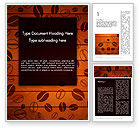 Food & Beverage: Coffee Beans Background Word Template #12838