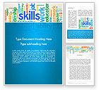 Careers/Industry: Human Resources Word Cloud Word Template #12846