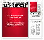 Careers/Industry: Lean Services Word Cloud Word Template #12863