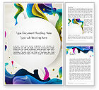 Abstract/Textures: Multicolored Splat Word Template #12865