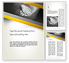 Religious/Spiritual: Supporting Hand Word Template #12870
