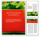 Holiday/Special Occasion: Christmas Fir Branches Word Template #12888