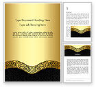 Art & Entertainment: Ornamental Theme Word Template #12890
