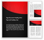 Abstract/Textures: Black and Red Word Template #12897