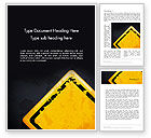 Business Concepts: Warning Sign Word Template #12900