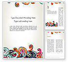 Art & Entertainment: European Classical Pattern Word Template #12902