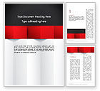 Business: Black Red and White Geometrical Word Template #12904