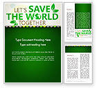 Nature & Environment: Save Nature Theme Word Template #12906