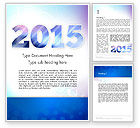 Holiday/Special Occasion: Blue and Purple 2015 Word Template #12909