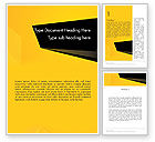 Business: Geometric Black and Yellow Word Template #12910