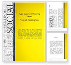 Education & Training: Social Word Cloud Word Template #12924