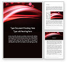 Abstract/Textures: Abstract Red Moving Lights Word Template #12946