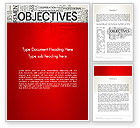Business Concepts: Objectives and Goals Word Cloud Word Template #12950