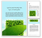 Nature & Environment: Leaves Background Word Template #12984