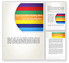 Abstract/Textures: Multi-colored Horizontal Stripes Word Template #12987