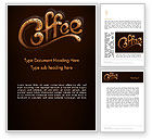 Food & Beverage: Coffee Aroma Word Template #12989