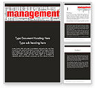 Business: Word Management Word Template #12992