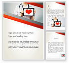Medical: Doctor Holding a Tablet PC with Heart Word Template #12994