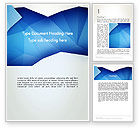 Abstract/Textures: Abstract Crumpled Blue Paper Word Template #12999