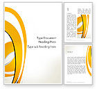 Abstract/Textures: Abstract Yellow Stripes Word Template #13002