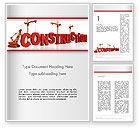 Construction: Building Construction Word Template #13007
