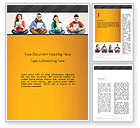 Education & Training: Young People with Tablets Word Template #13021