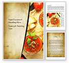 Food & Beverage: Vegetable Soup Word Template #13025