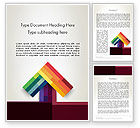 Business Concepts: Vivid Up Arrow Word Template #13030