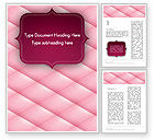 Abstract/Textures: Abstract Pink Quilted Satin Frame Word Template #13045
