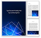 Abstract/Textures: Abstract Wire on Blue Word Template #13047