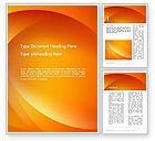 Abstract/Textures: Orange Abstract Arcs Word Template #13079