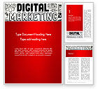 Careers/Industry: Digital Marketing Word Cloud Word Template #13083