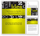 Business Concepts: Idea Paint on Chalkboard Word Template #13085