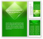 Abstract/Textures: 绿色菱形Word模板 #13086