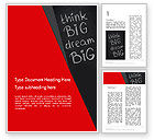 Business Concepts: Think Big Dream Big on Chalk Board Word Template #13097