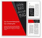 Business Concepts: Denken sie großen traum groß auf tafel Word Vorlage #13097