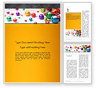 3D: Shiny Colorful Balls Word Template #13101